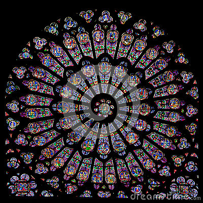 Free Rose Window Of Notre Dame Royalty Free Stock Photos - 25259128