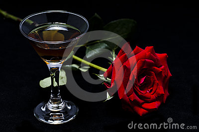 Rose and wine