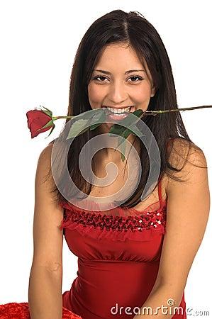 Rose Woman Close Up