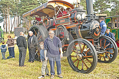 Roseisle steam Traction Engine Rally Editorial Image