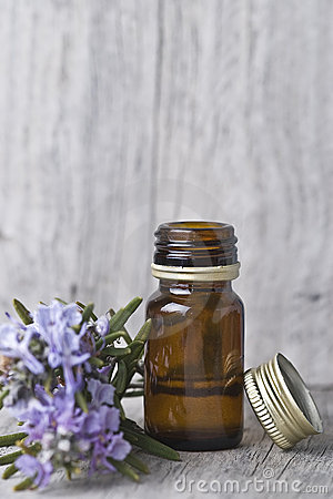 Rosemary alcohol jar.