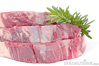 Rosemary on beef fillet steak