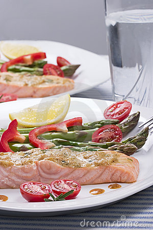 Free Rosemary Roasted Salmon Stock Image - 1886631