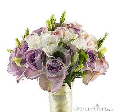 Roses épousant le bouquet