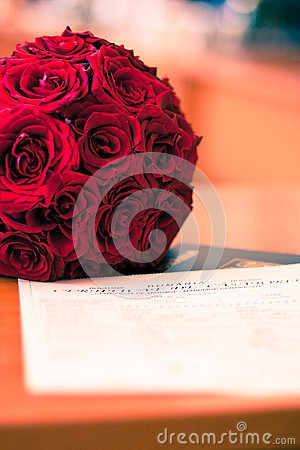 Roses and marrige certificate