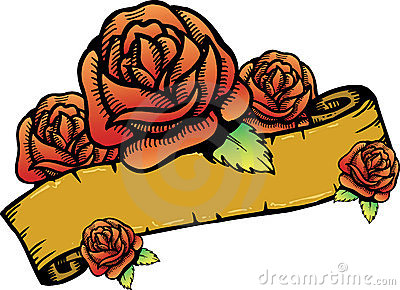 Roses banner vector illustration.