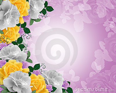 Roses Border Easter Colors