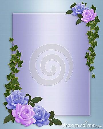 Free Roses Border Elegant Wedding Invitation Stock Photography - 8525522