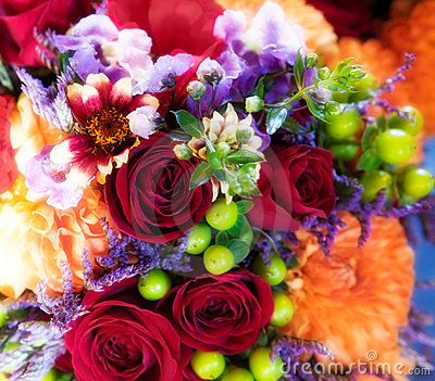 Roses, Chrysanthemums & Orchids Bouquet Stock Photography - Image: 17512862