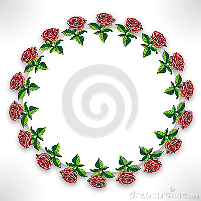 Roses on circle