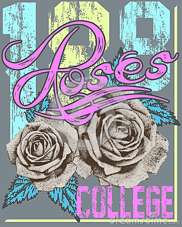 Free Roses College Royalty Free Stock Photo - 44780855
