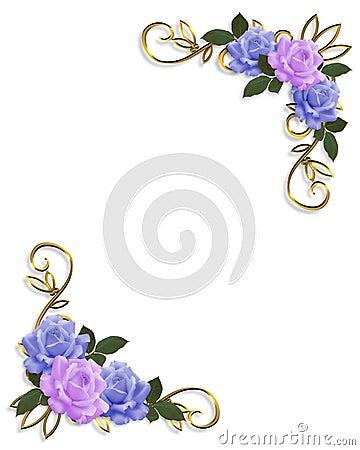 Roses Corner design  Blue and Lavender