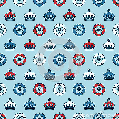 Roses and crowns pattern