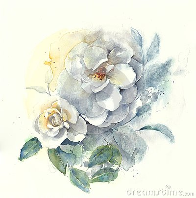 Free Roses Flower Bouquet Watercolor Painting Illustration Royalty Free Stock Photo - 89105525