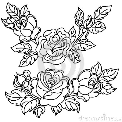 Drawings Of Flowers In Black And White Black-and-white drawing.