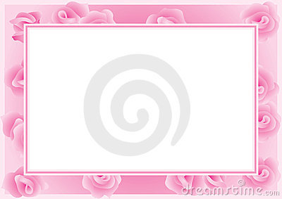 Roses frame for the greeting card