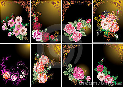 Roses in frames collection