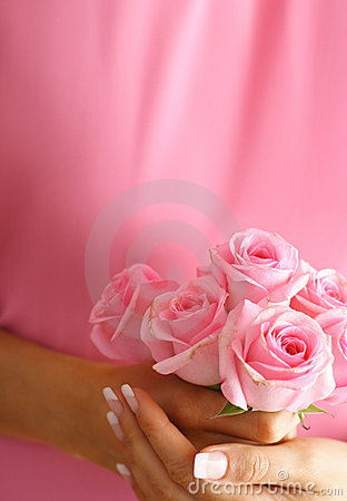 Roses in hands