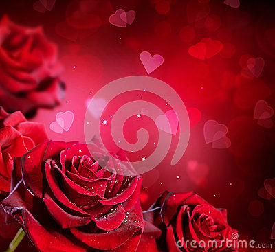 heart and roses background - photo #28