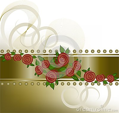 Roses on the horizontal strip
