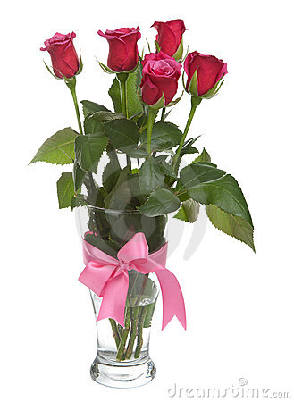 Free Roses In Vase Isolated Royalty Free Stock Image - 17520366