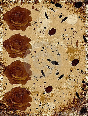 Roses invitation card