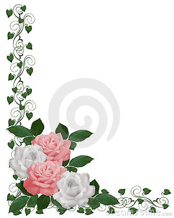 Roses and Ivy wedding corner design