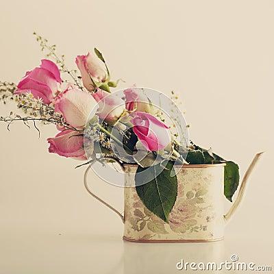 Roses in a jar