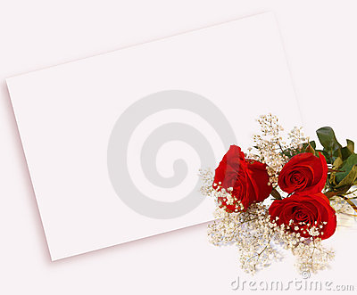 Roses and letter
