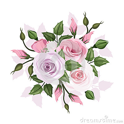 Roses and lisianthus flowers cartoon vector cartoondealer roses and lisianthus flowers cartoon vector thecheapjerseys Choice Image
