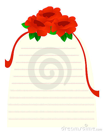 Roses note paper