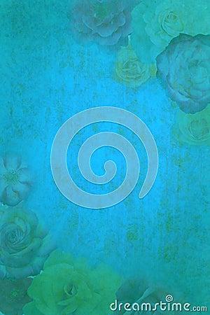 Free Roses On Grunge Background Royalty Free Stock Image - 8102756