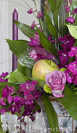 Roses, orchids and Apples