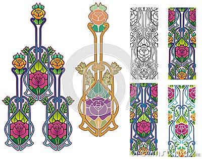 Roses ornate