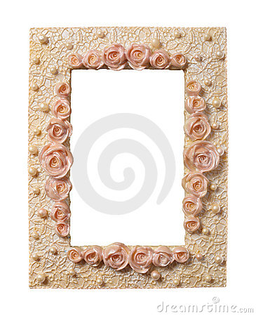 Roses-and-Pearls Frame