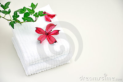Roses Potpourri and White Towels.