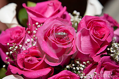 Roses with ring