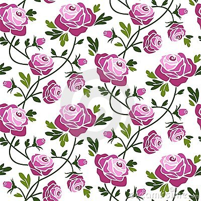 Free Roses Seamless Pattern Royalty Free Stock Images - 10657789