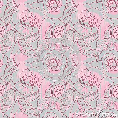 Free Roses Seamless Pattern Royalty Free Stock Photo - 12288855