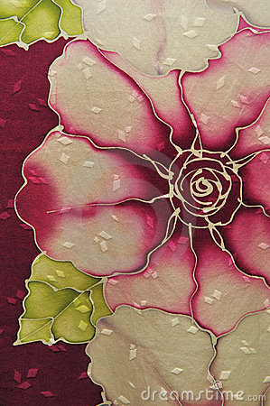 Roses style batik