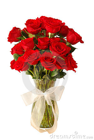 Roses In Vase Royalty Free Stock Photos - Image: 7648168