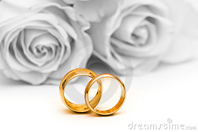 Roses and wedding ring