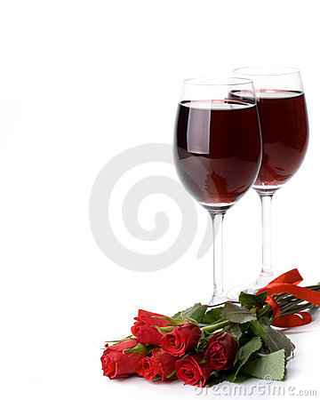 Roses and wine