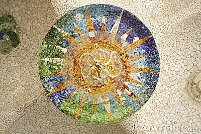 Rosette of Gaudí. Barcelona