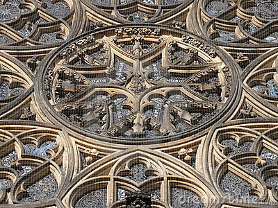 Rosette of St Vitus Cathedral. Prague
