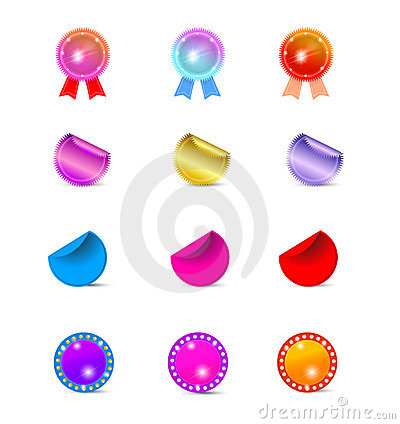Free Rosettes And Stickers Royalty Free Stock Photo - 14507555