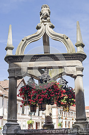 Rosheim (Alsace) - Well and flowers