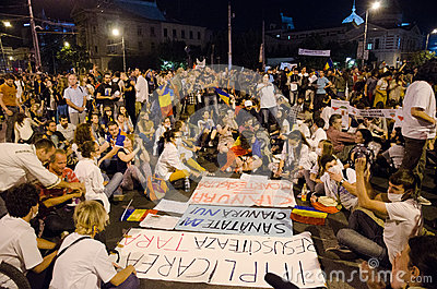 Rosia Montana Protest in Bucharest,Romania - 08 September(6) Editorial Stock Image