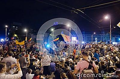Rosia Montana Protest in Bucharest,Romania - 08 September(8) Editorial Photo
