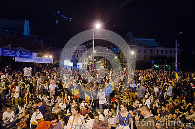 Rosia Montana Protest in Bucharest,Romania - 08 September(10) Editorial Stock Image